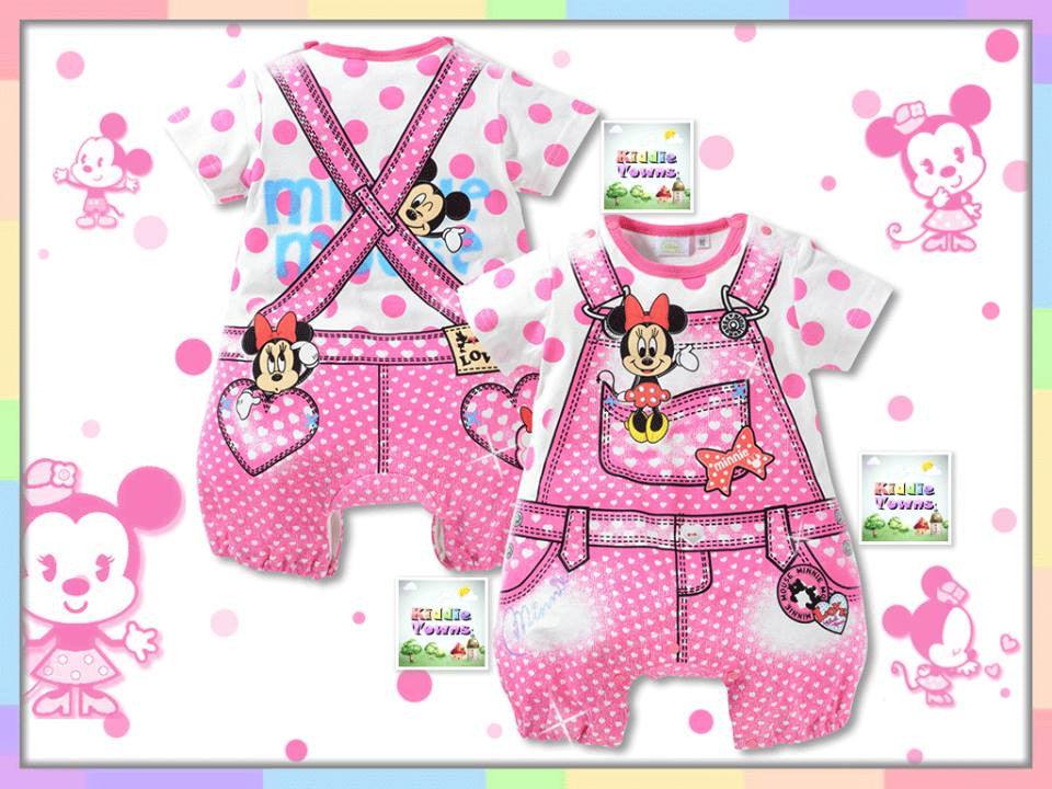 SALES: D*sney Cute Jumper Romper (PINK Minnie) [RP_DNY003]