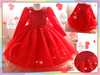 READY STOCK: Vintage Lace Long Sleeve Party Gown (RED) [PRETTY_NYG_42A]