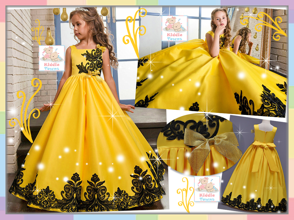 READY STOCK: Fabulously Stunning Long Ballroom Gown (YELLOW) [PRETTY_NYG_45Y]