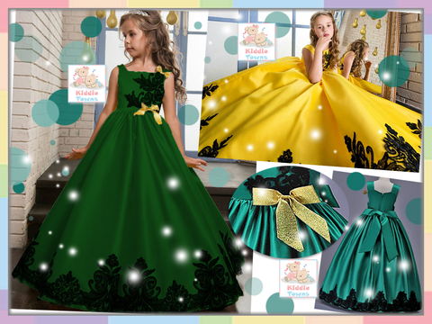 READY STOCK: Fabulously Stunning Long Ballroom Gown (DARK GREEN) [PRETTY_NYG_45G]