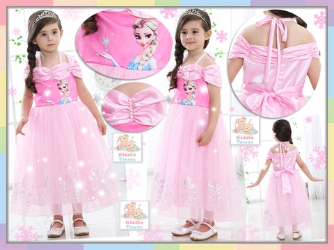 READY STOCK: FROZEN Fantasy Dream Princess Gown (PINK) [FRZ_49A]