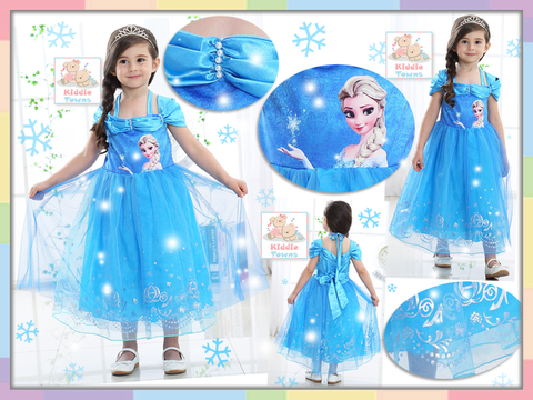 READY STOCK: FROZEN Fantasy Dream Princess Gown (BLUE) [FRZ_49B]