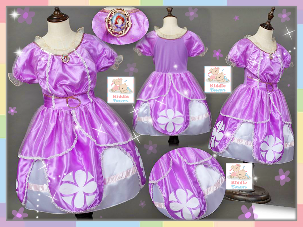 READY STOCK: SOFIA Flouncing Princess Gown (PURPLE) [GIRL_DSNY_29]