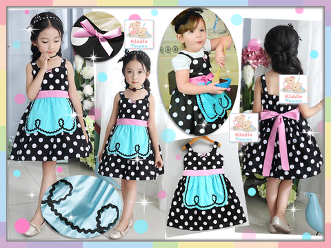SALES: Maid Design Dress (ALICE IN WONDERLAND) (BLACK WHITE)  [GIRL_DSNY_33W]