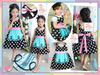 SALES: Maid Design Dress (SNOW WHITE) (BLUE YELLOW) [GIRL_DSNY_33S]
