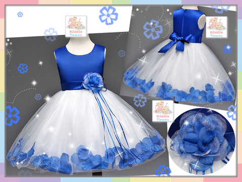 READY STOCK: Royal Petal Roses Gown (BLUE) [LOVE_NYG_22B]