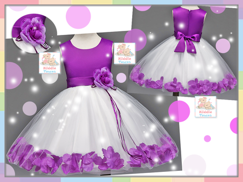 READY STOCK: Royal Petal Roses Gown (PURPLE) [LOVE_NYG_22F]