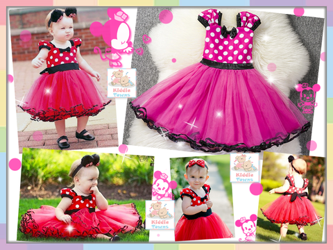 SALES: Cute Minnie Girl Tutu Dress (PINK) [GIRL_DSNY_10B]