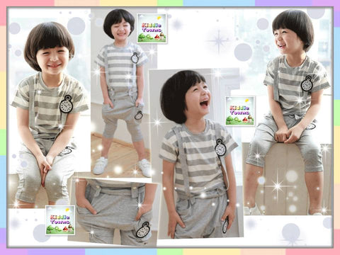 SALES: Boy Time Jumper Suit 2pcs Set [SPORTSET_TIME]