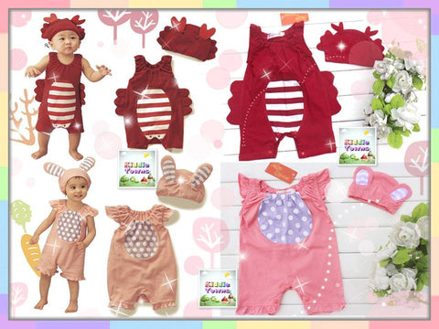 SALES: Baby Animal Costume 2pcs Set (Hat + Romper) [RP_ANIMAL_SET02]