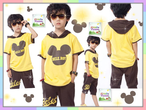 SALES: Mickey Hoodies Boyset (YELLOW) [SPORTSET_MICKEY_02]