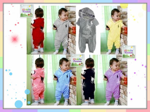 READY STOCK: P*LO Hoodies Romper [PLO_R01]