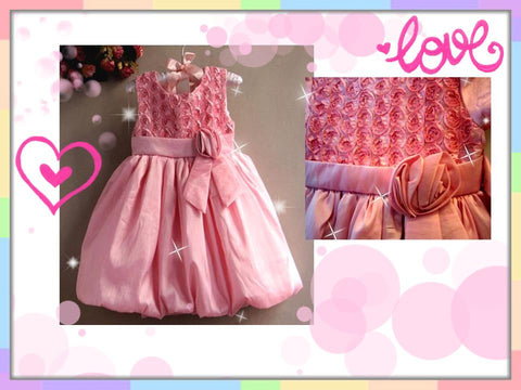 SALES: Pretty Roses Party Sleeveless Gown (PINK) [PRETTY_E09]