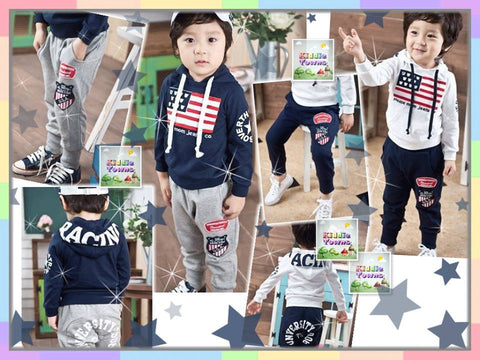 SALES: Mickey Flag Hoodies 2pcs Set (Sweater + Pant) [SPORTSET_FLAG]