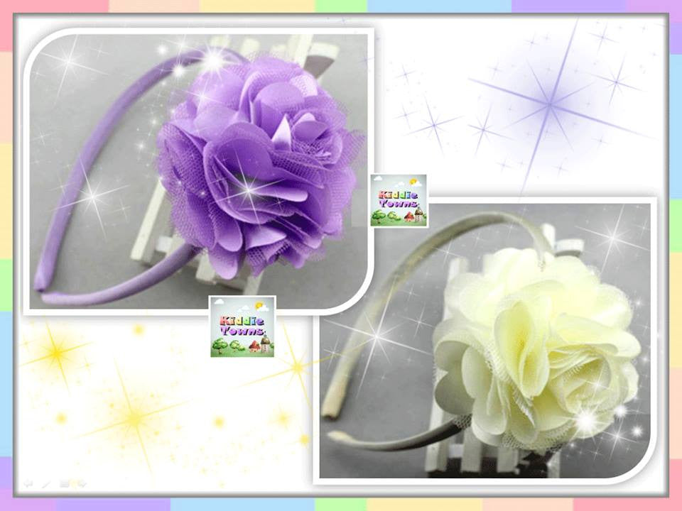 READY STOCK: Princess Big Flower Hairband [FLOWER_BAND#A]