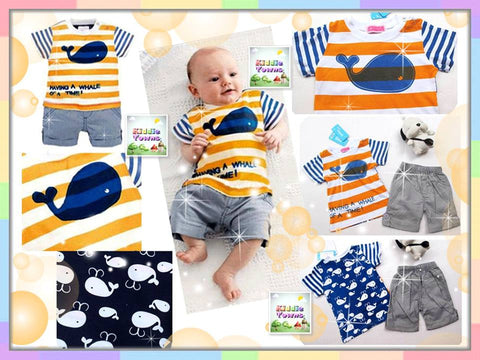 SALES: Boy Ocean Whale 2pcs Set [RP_BOYSET_WHALE]