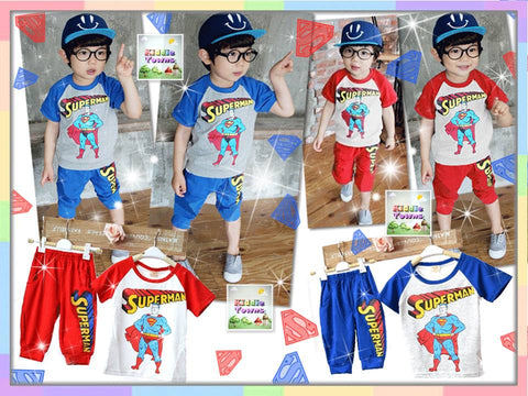 SALES: Sportset Superman 2pcs Set (RED) [SPORTSET_SUPERMAN]