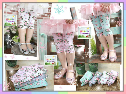 READY STOCK: Sweet Flower Quarter Legging [SUMMER_L024]