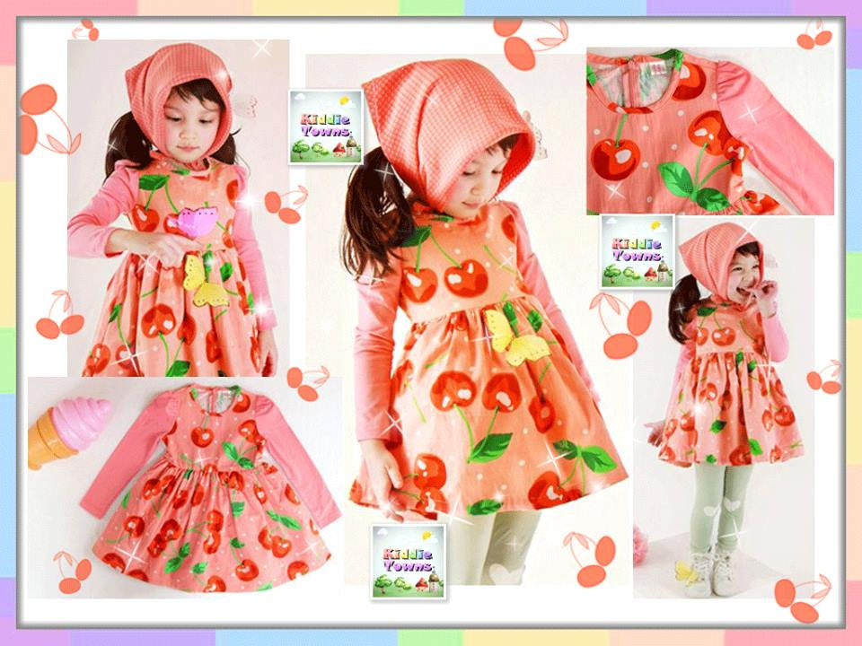 SALES: Candy Cherry Dress (PINK) [KORN_LSDRESS_01]