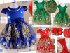 READY STOCK: Festive Embroidered Princess Gown (GREEN) [EUR_GIRL_DRESS_25G]