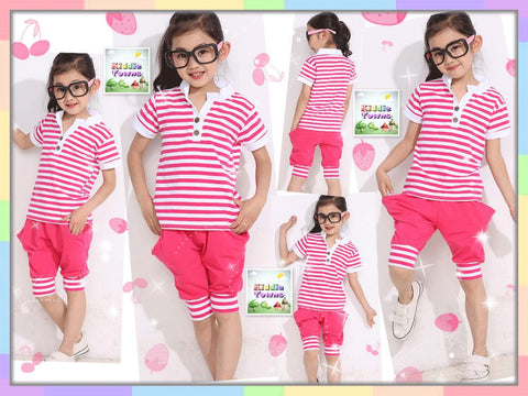 Girl PINK Stripe Sailor Sportset [SPORTSET_GIRL_010]
