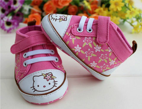 PREWALKER HelloKitty Pink Flower Shoes (PINK) [SHOES_G019]