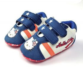 PREWALKER HelloKitty Blue Stripe Star Shoes [SHOES_G023]