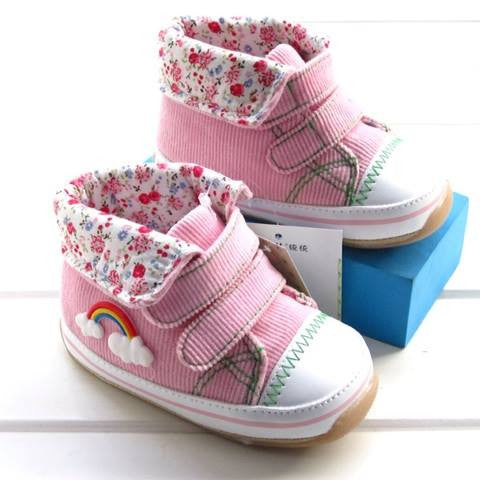PREWALKER Total Pink Rainbow Shoes [SHOES_G08]
