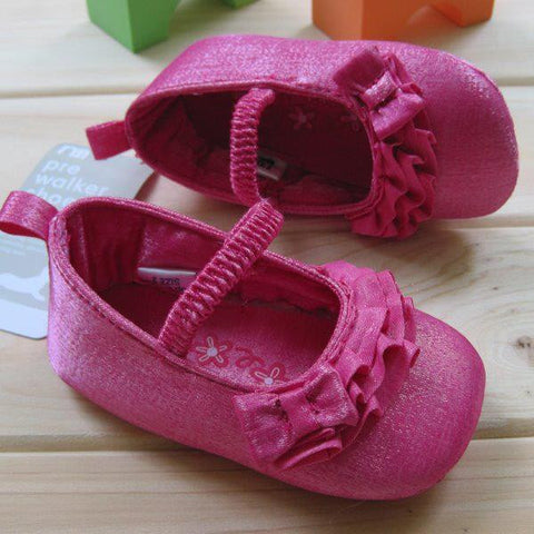 PREWALKER MotherC*re Dark Pink Curvy Lining Shoes [SHOES_G024]