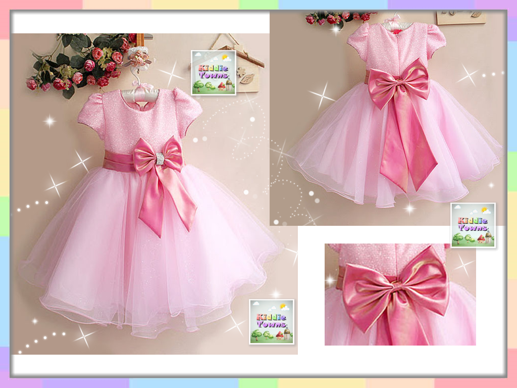 SALES: Sparkling Shinny Big Ribbon Princess Gown (PINK) [PRETTY_D15B]