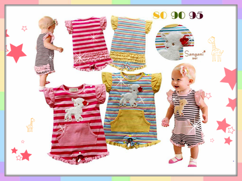 SALES: Cute Little Lamb Stripe Romper [WAWA_030]