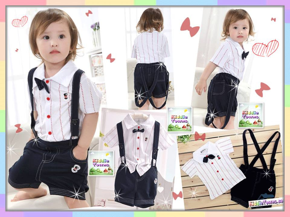 READY STOCK: Smart Boy Jumper Suit 3pcs Set [RP_JUMPER_SMART]