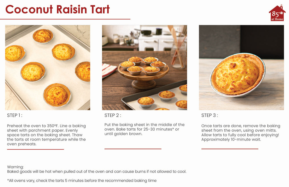 Coconut Raisin Tarts instructions Image