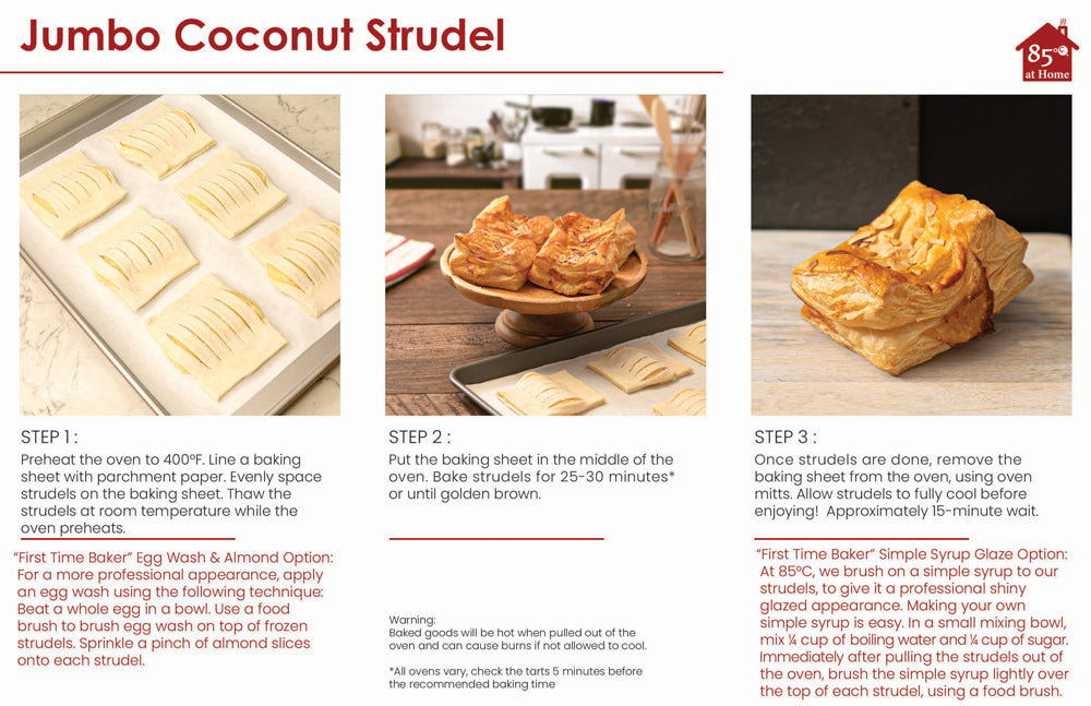 Jumbo Coconut Strudel Instructions Image
