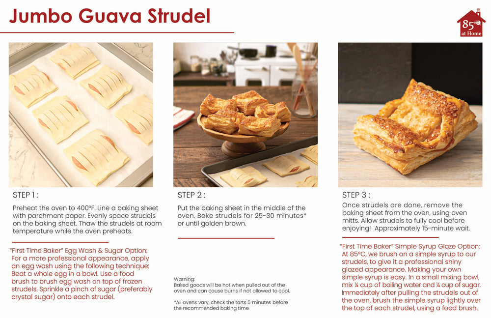 Jumbo Guava Strudel Instructions Image