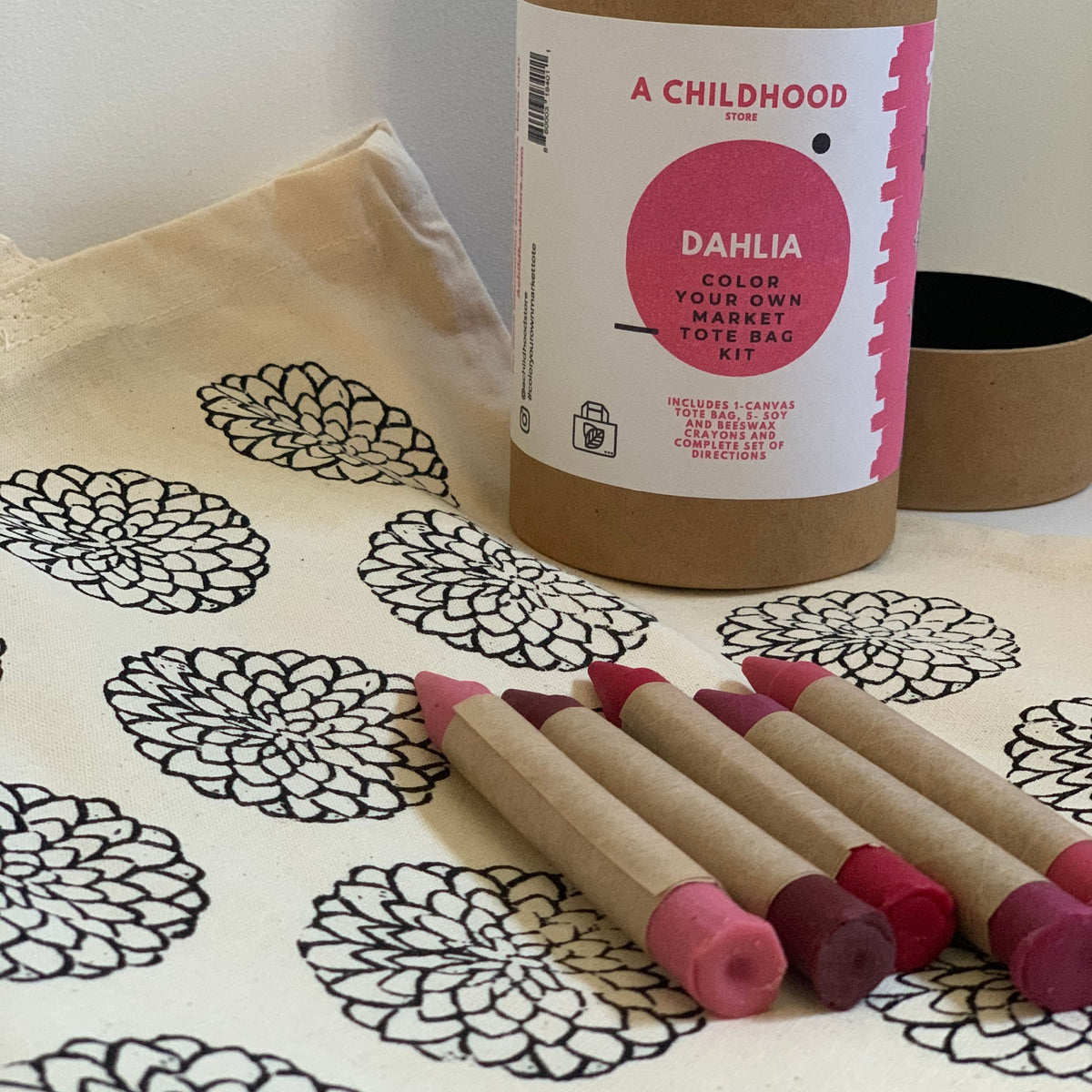 Color Your Own Market Tote Kit with Eco Friendly Crayons