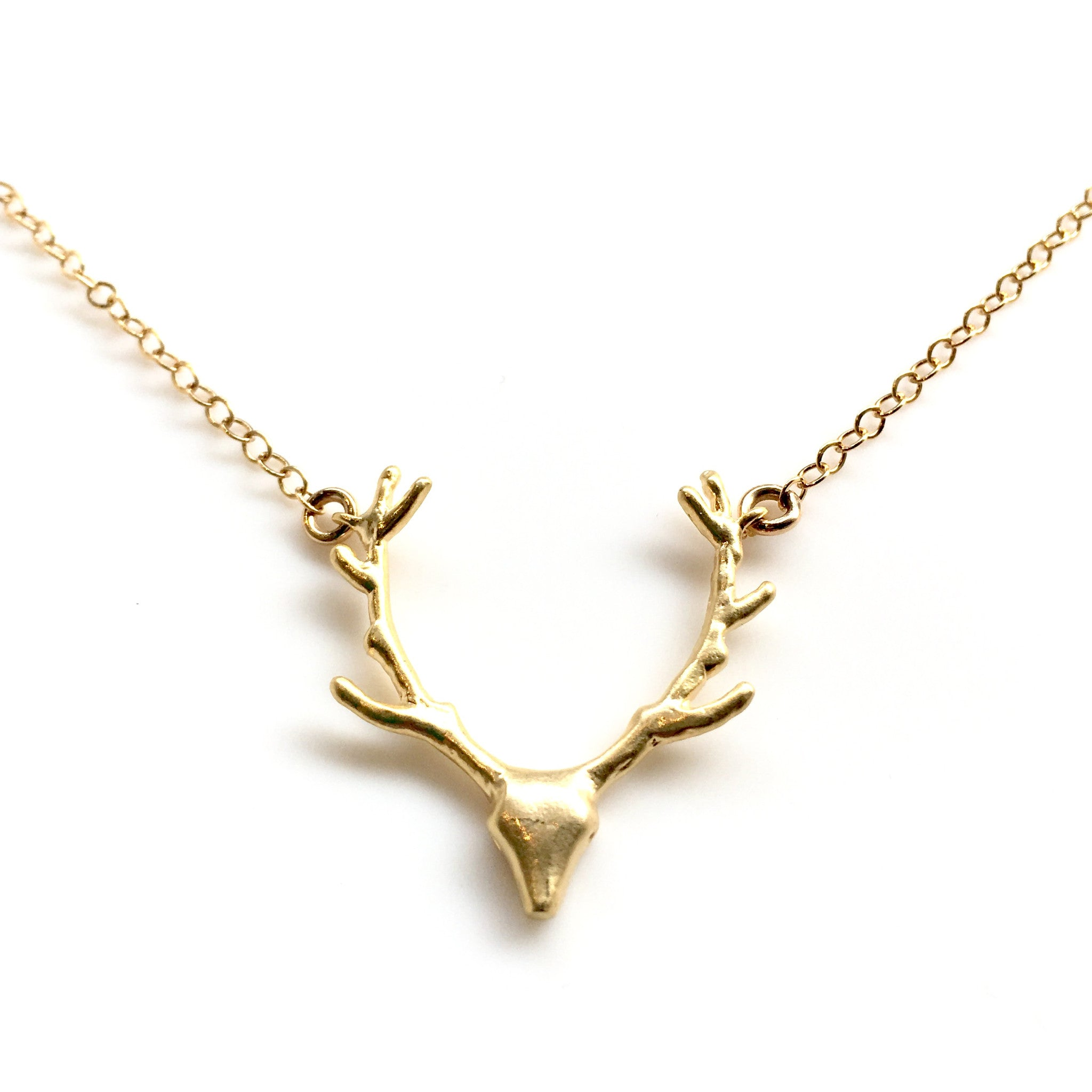 antler image crystal products necklace beuniki