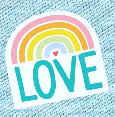 Rainbow Love Sticker
