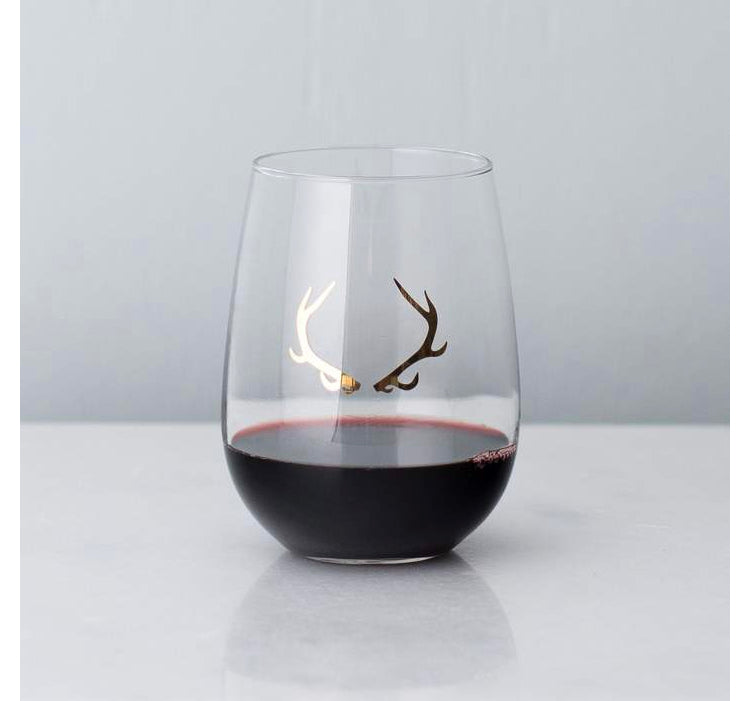 20k Gold Antler Wine Glass