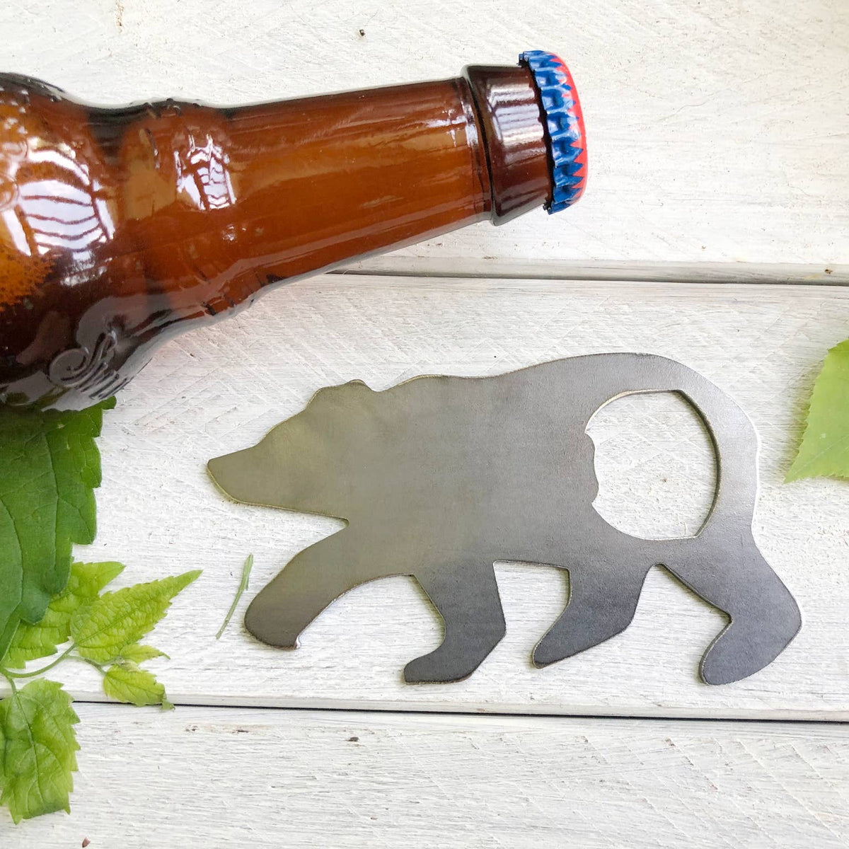Metal Bottle Opener - Bear
