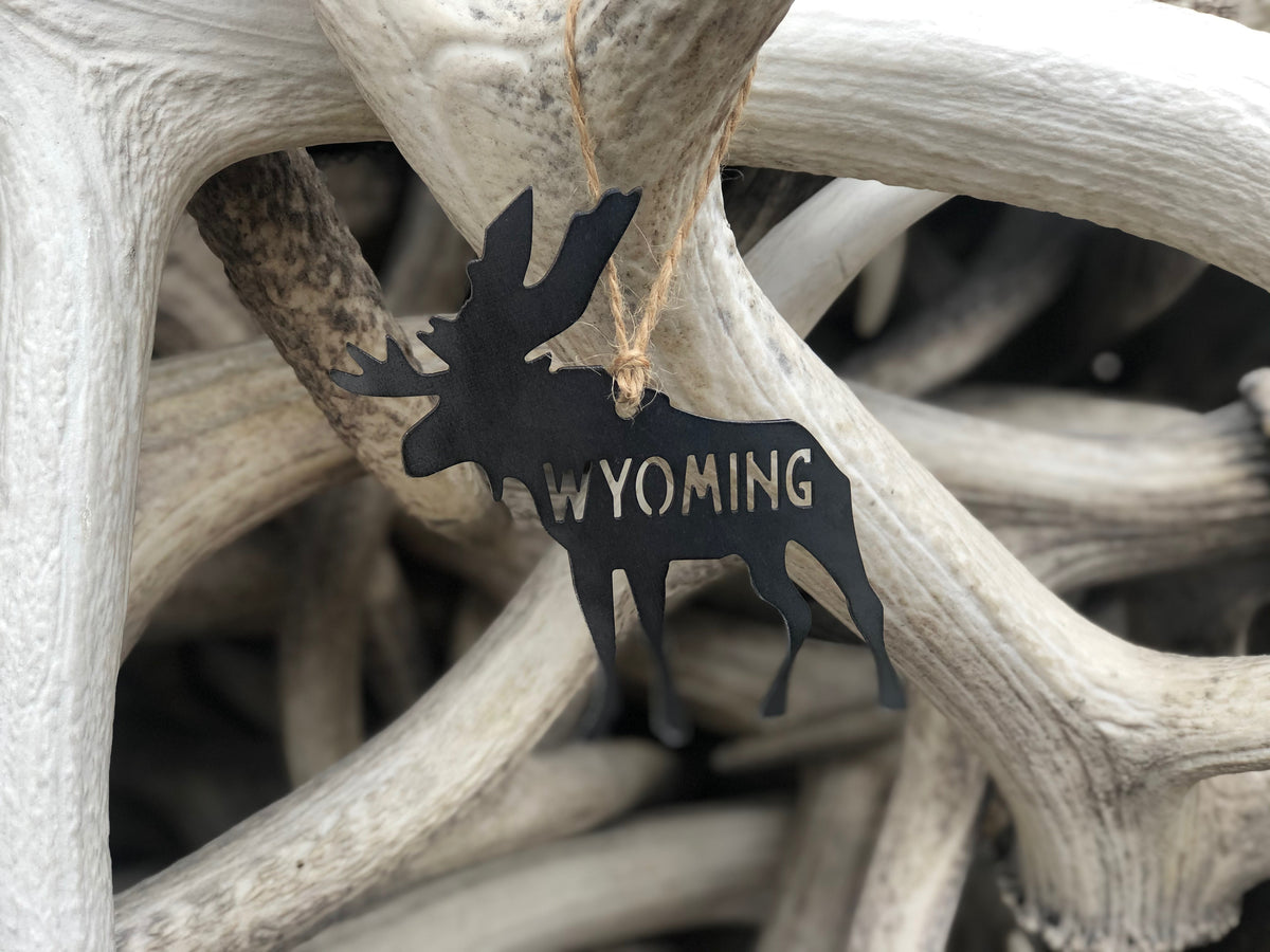 Wyoming Moose Ornament