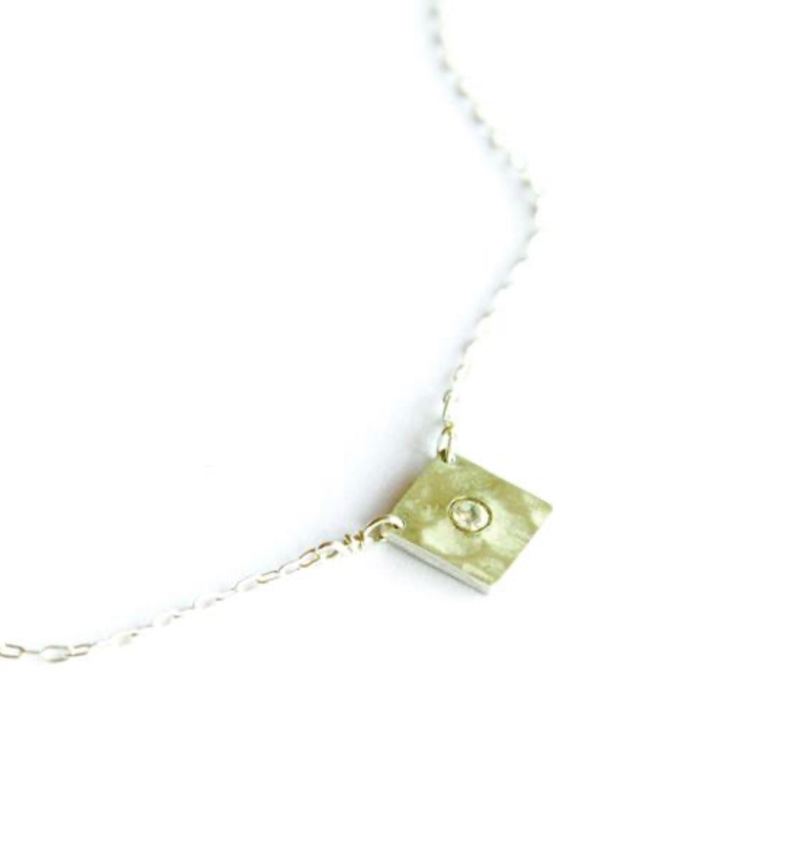 Sparkly Square Necklace