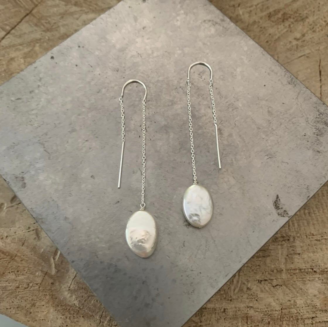 Pantry Party Pearl Threader Earrings