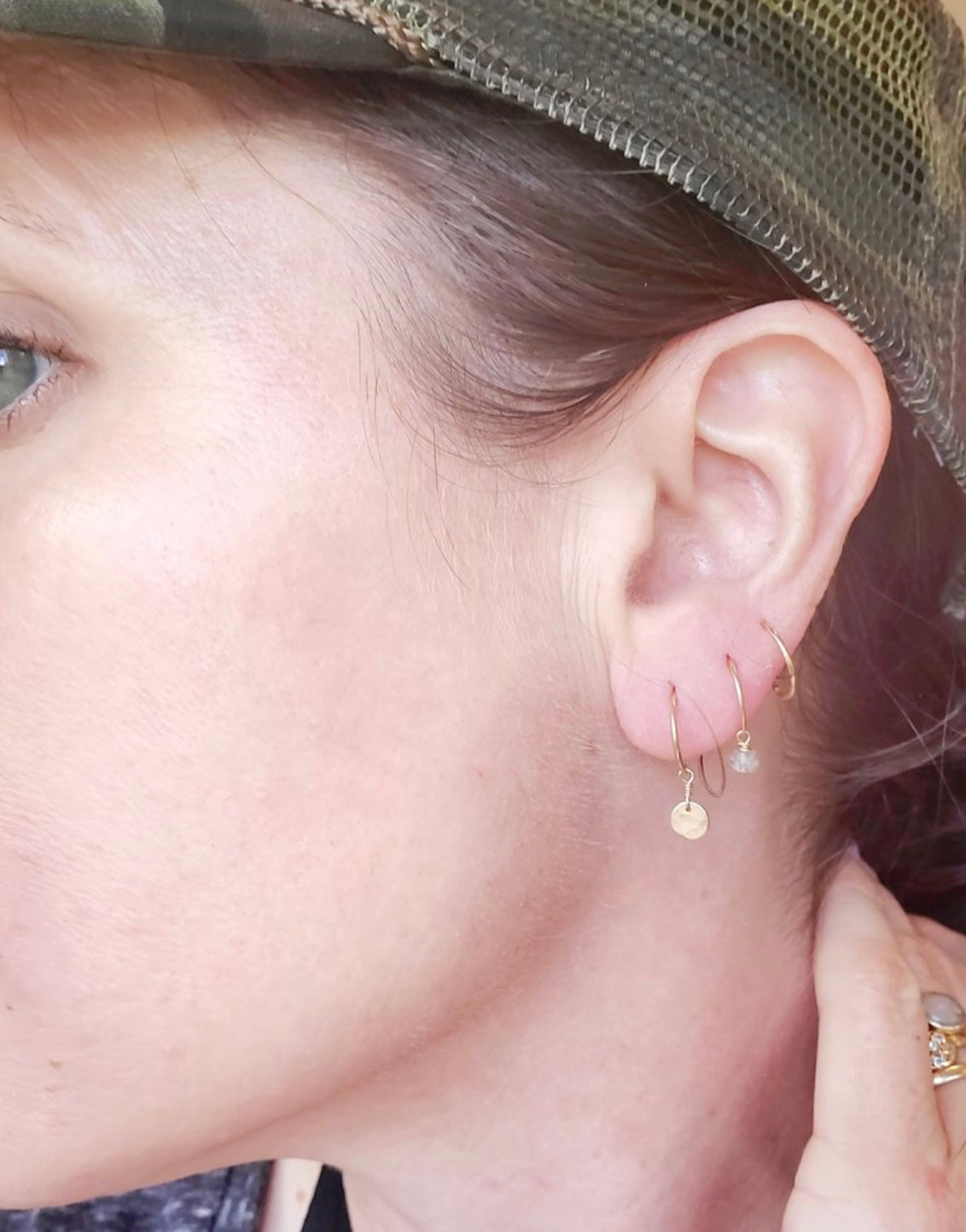 "Little Disc ""Lobe Hugger"" Earrings"