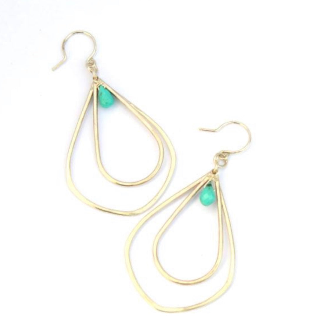 Calla Lilly Earrings With Turquoise