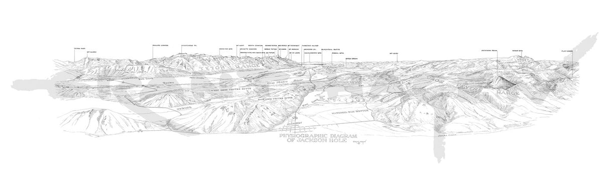 "Jackson Hole Physiographic Map - Grant ""Tiny"" Hagen"
