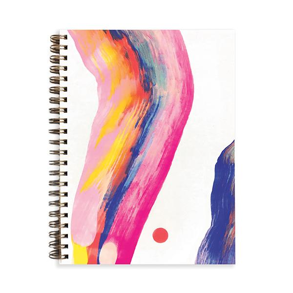 Painted Journal Candy Swirl