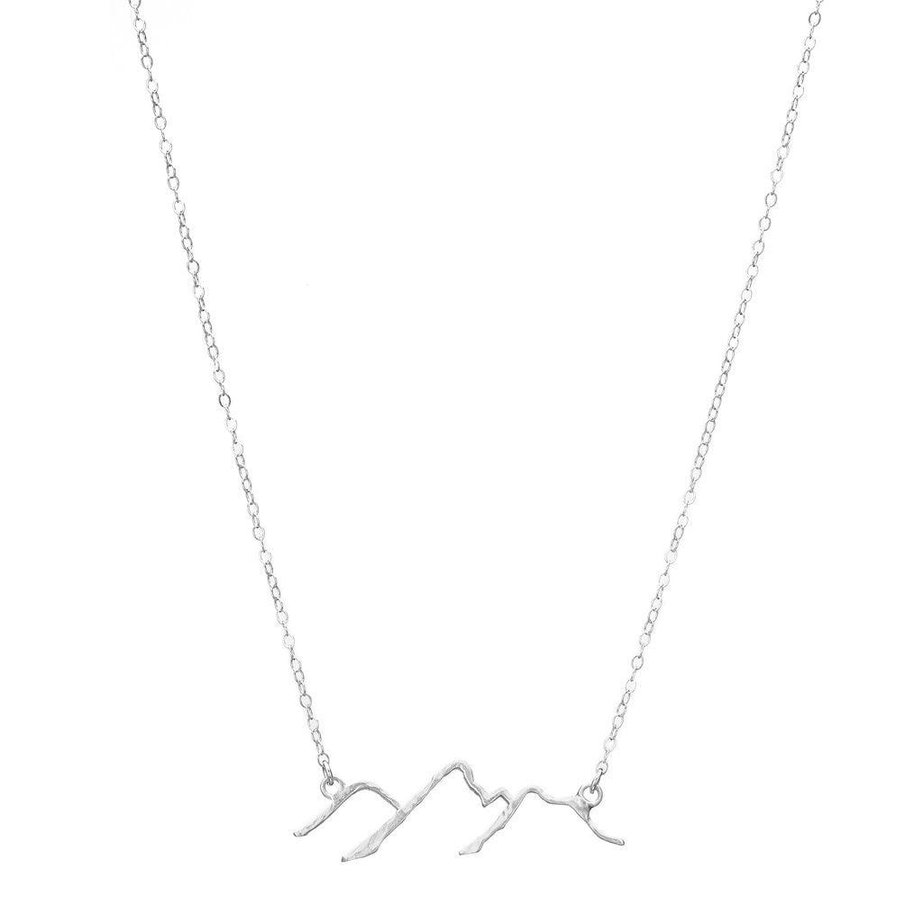 Sterling Silver Chain w/ Silver Plate Charm