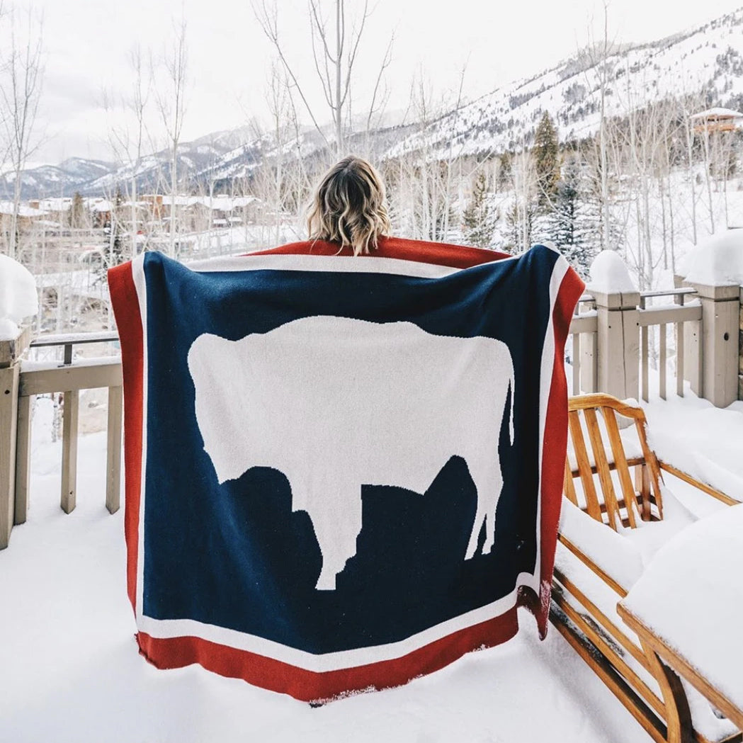 Wyoming Flag Blanket