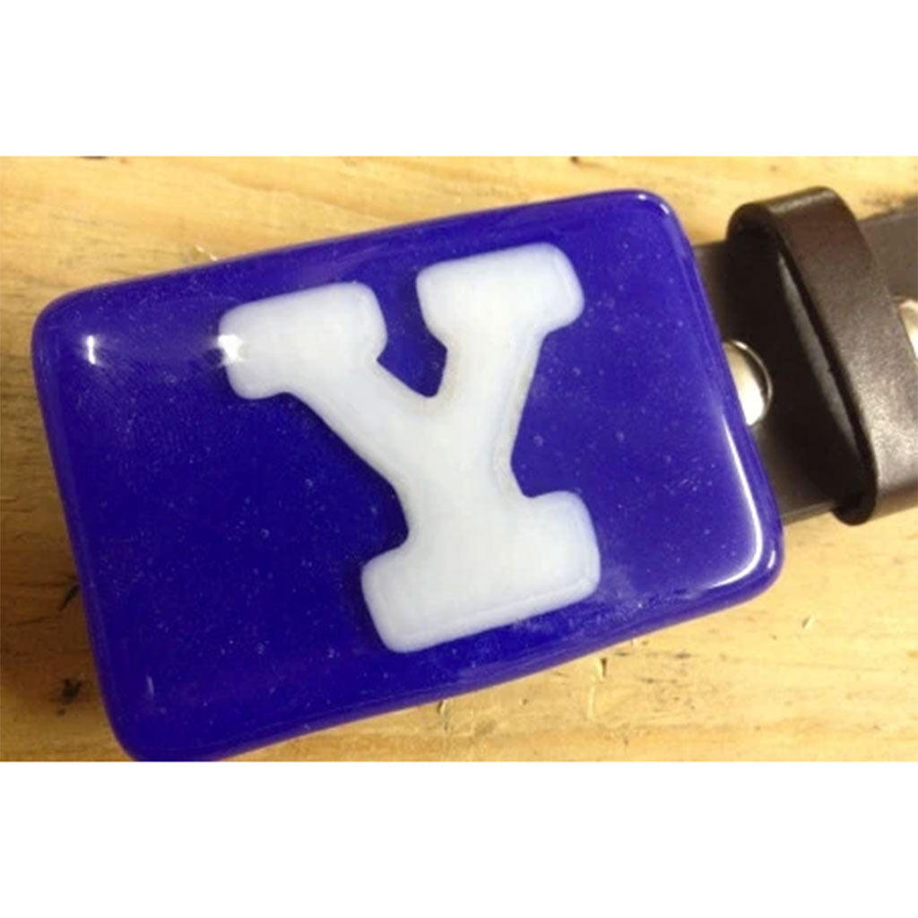 Yale Glass Belt Buckle | Made Jackson Hole